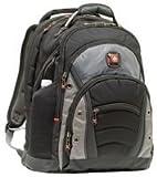 Wenger 600635 SYNERGY 16' Laptop Backpack, compartiment pour ordinateur portable rembourré avec iPad/tablette / eReader de poche en noir / gris {26 Litres}