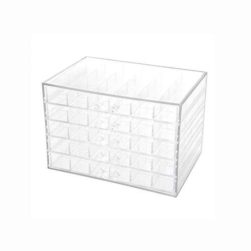 ECSWP 120 Grids Nail Art Transparent Décoration Boîte de Rangement Strass Perles Accessoires Conteneur for Cas manucure Outil