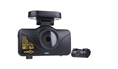 Lukas 2 canali, HD, Wi-Fi 16GB auto dash Cam Black Box %2FCar registratore DVR GPS integrato %2FRear anteriore Full HD, LK-7950WD