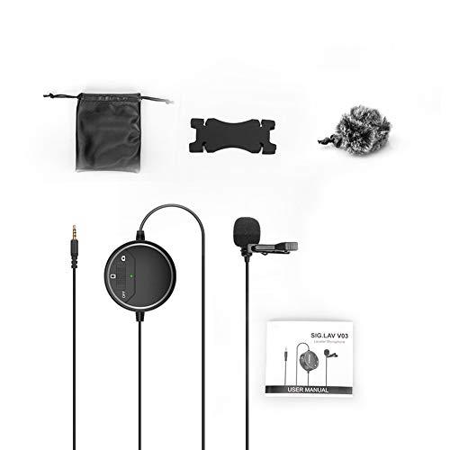 Omni-Direccional Micrófono De Solapa De 3,5 Mm Monitor En Tiempo Real para Smartphone Videocámara De La Cámara para Gopro