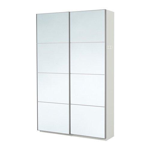 Ikea Pax Armario, Blanco, Auli Espejo Cristal 2382.81723.1412 ...