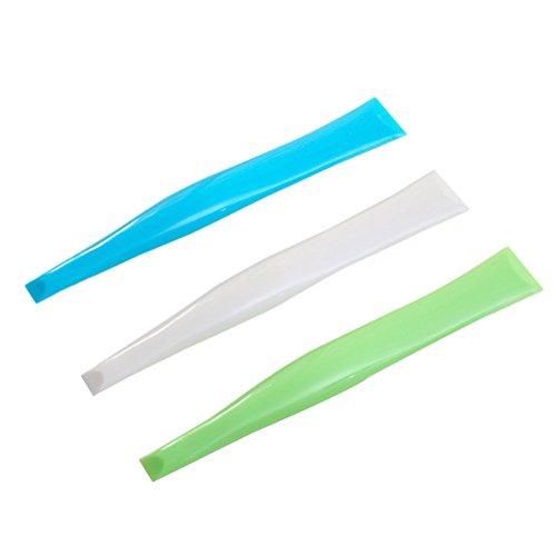 BESTONZON 10 pcs de Cuisson Grattoir Plastique Stove Top Cleaner Grattoir (3 Couleurs mélangées)