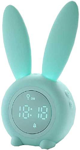 RabbitDigital Wake Up Light Alarm Clock, Kids Voice-Activated Charging LED Clock Night Light Alarm Clock Gift Natural Wake-up Light Verlichte klok