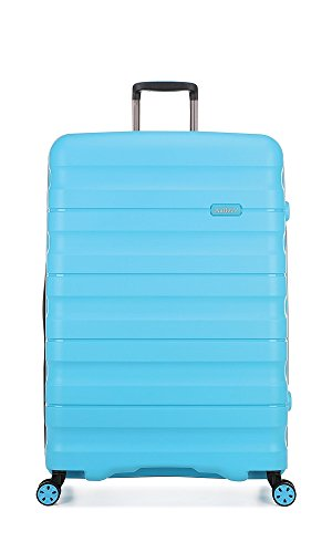 Antler Juno II Brights, Durable & Lightweight Hard Shell Suitcase - Colour: Turquoise, Size: Large