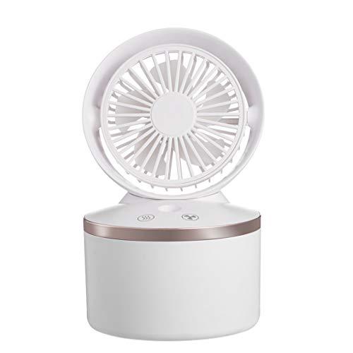 Ventilador de aire acondicionado, ventilador de niebla Guangruiorrty con humidificador USB recargable aire acondicionado ventilador para hogar oficina verano Outing artefacto