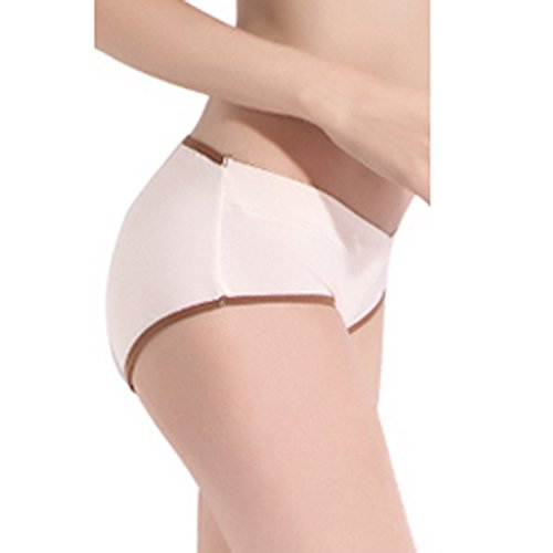 KUCI マタニティ下着,KUCI女性の妊娠中のマタニティ ショーツ ローライズU字型 産前 産後 綿,3枚組 XXL, Grey+ Grey Strip+Nude3Pack