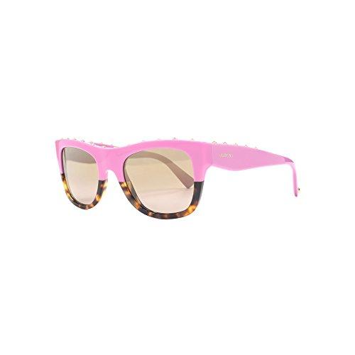 Valentino dames 0VA4023 50667I 51 zonnebril, bruin (roze op Havana/Mirrorlightgoudgradient),