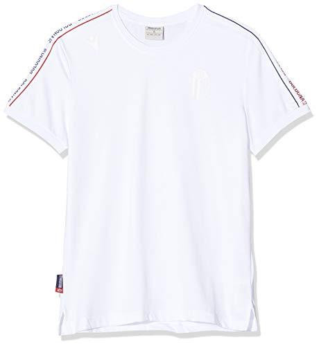 Macron T-Shirt en Coton Senior Bologna FC 2019/2020, pour Homme L Blanc