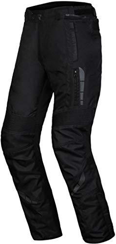 Rebelhorn Pantalones de Moto Thar II, Color Negro, para Hombre, 3 Capas, Forro de Membrana Impermeable de Nivel CE, 1 Protectores, Sistema Clima, Paneles Antideslizantes, Elementos Reflectantes, 4