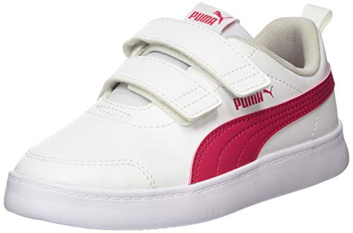 Puma Unisex-Kinder Courtflex V2 V Ps Sneaker, Weiß White-Bright Rose, 33 EU