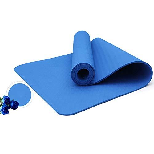 Yunmeng yogamat van TPE, antislip, hoge dichtheid, 4 mm dik, smaakneutrale sportmat voor fitness, pilates, 183 x 61 cm