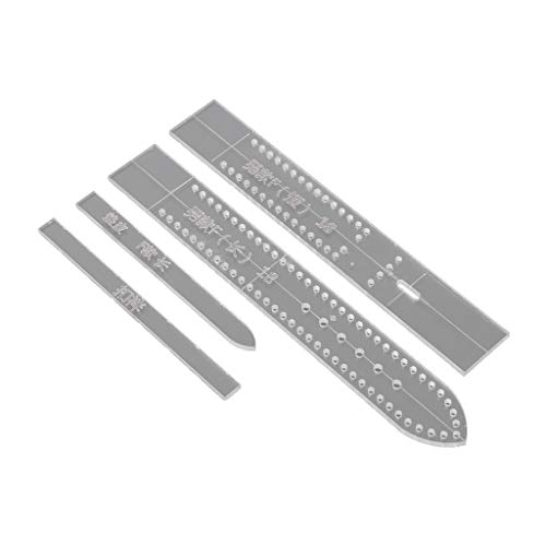 Baiyao Juego de 4 piezas de acrílico transparente para reloj, plantilla de plantilla, herramienta de manualidades de cuero, suministros para el hogar para hombres
