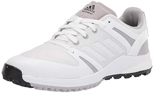 adidas Zapatillas de Golf para Hombre, Color Blanco, Gris y Blanco