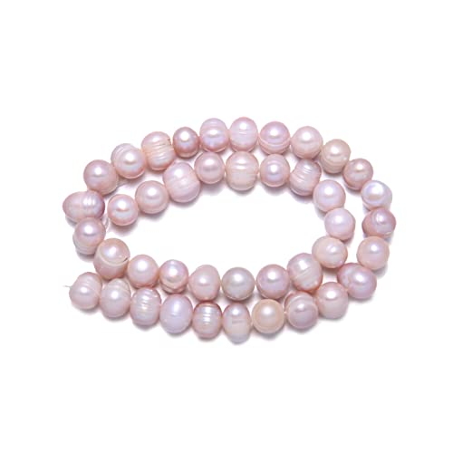 36cm Natural Freshwater Pearl Beads Round Shape Punch Loose Beads for DIY Elegant Necklace Bracelet Jewelry Making