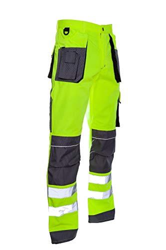 L&H Arbeitshose Sicherheitshose Schutzhose Warnhose Warnbekleidung (LH-FMNX-T-YSB) (52)