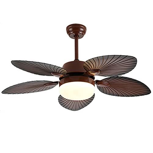 Ventilador De Techo con Iluminación LED 48 W 3 Temperaturas De Color Y 3 Velocidades Dormitorio Lámpara De Oficina Restaurante Salón Iluminación (Size : 52in)