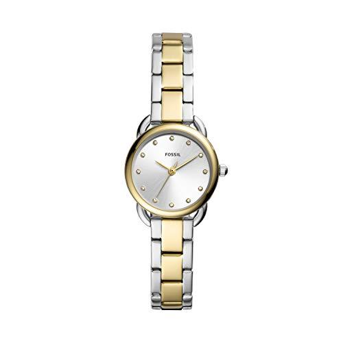 Fossil Damen Analog Quarz Uhr mit Edelstahl Armband ES4498