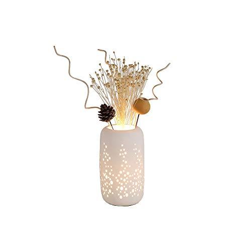 SXRKRZLB Lámparas de Escritorio Creativa Simple lámpara de Mesa de cerámica Arreglo Decoración Flor de la Moda Caliente romántico Dormitorio de Noche Sala de Estar Estudio lámpara de Mesa LDE