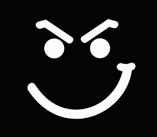 Jon Bon Jovi Smirk Face Smiley Face Car Window Decal Truck Sticker White, Die Cut Vinyl Decal for Windows, Cars, Trucks, Tool Boxes, laptops, MacBook - virtually Any Hard, Smooth Surface
