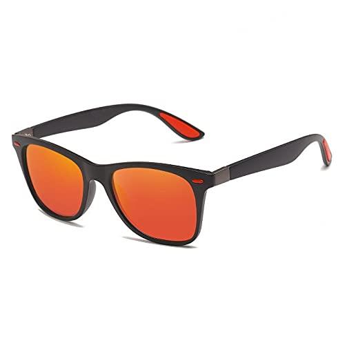 GHXAKPT 2021 Nuevo diseño de Marca Gafas de Sol polarizadas Hombres Mujeres Conducción Sombras Hombre Vintage Gafas de Sol Spuare Espejo Verano (Color : Color 6, Lenses Color : Without Bag)
