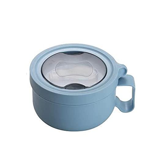 TFJJSQA Caja de almuerzo especial y simple de acero inoxidable con tapa, ensalada de frutas, fideos, arroz, bento, contenedor portátil de alimentos para estudiantes 0414 (color azul)