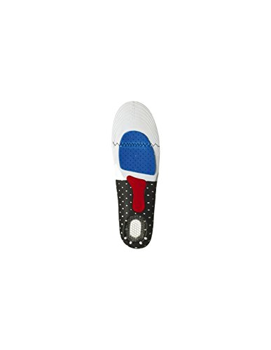 Euro Protection - Sottopiedi anatomici con tallone al gel per il massimo comfort nella calzata. Antibatterico, antistatico. Taglia regolabile 41-46