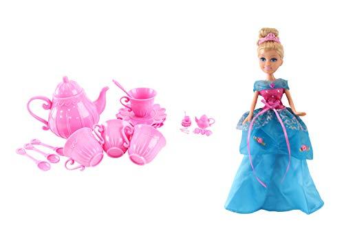 Princess Tea Party Doll & Accessory Set - Bevat Princess Doll, Doll Size & Life Size Tea Party