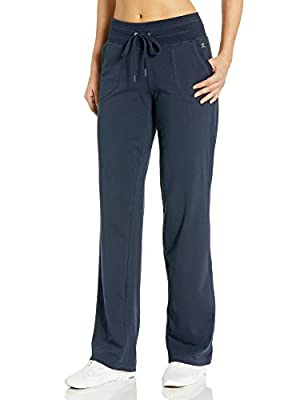 Danskin Women's Drawcord Athletic Pant, Midnight Navy, M
