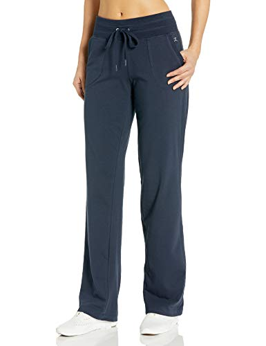 Danskin Women's Drawcord Athletic Pant, Midnight Navy, XL