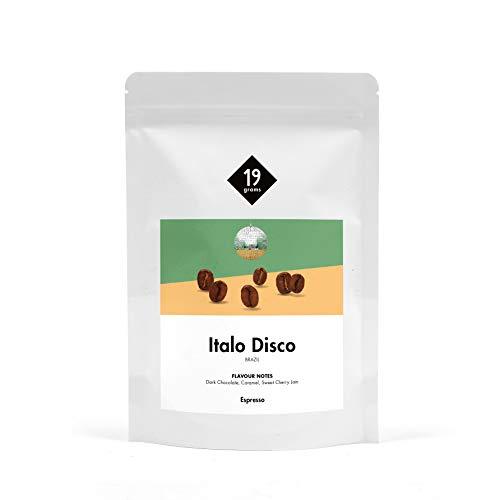 19grams Kaffeerösterei | 250g | Italo Disco | Espresso | perfekt für Vollautomaten, 250g x ganze Bohnen | frisch gerösteter Kaffee | 100% Arabica Kaffeebohnen | specialty coffee