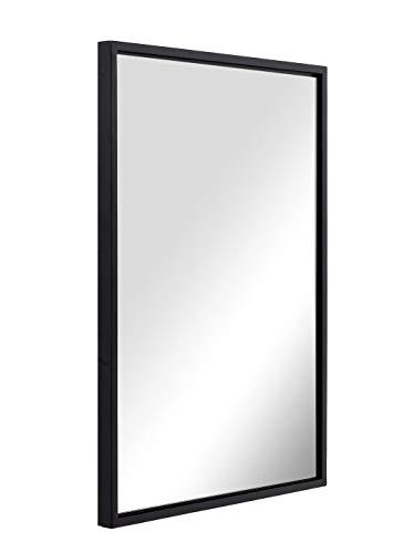 ANDY STAR Black Bathroom Mirror for Wall 22x30x2, Modern Matte Black Rectangle Frame 2' Deep Premium...