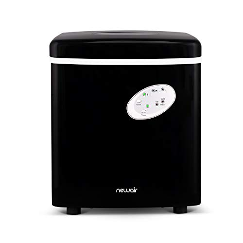 NewAir Portable Ice Maker 28 lb Daily Icemaker, 3 Ice Bullet Sizes, Perfect Machine for Countertops, NIM028BK00 Black