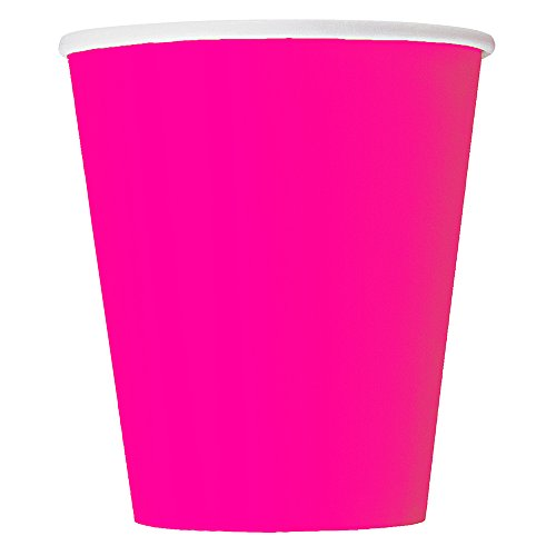 Neon Paper Cups. Pack of 14 available in pink, green, purple and yellow.
