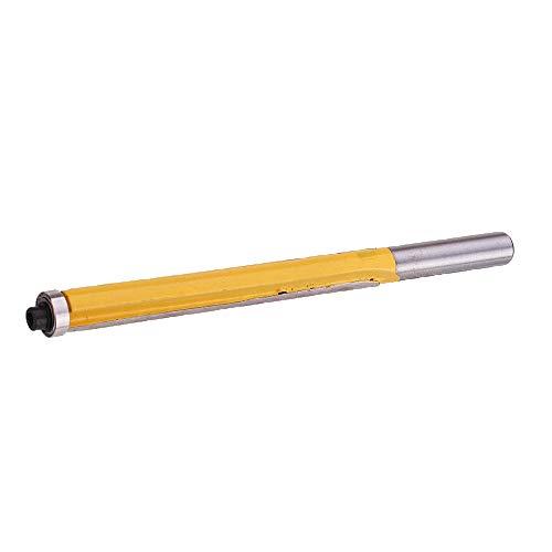 DIMENXONG Bricolaje y Herramientas 8mm Shank 76mm Extra Long Patrones Patrón Ajustado Ruborador Router bit Herramienta de carpintería