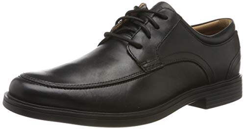 Clarks Herren Un Aldric Park Derbys, Schwarz (Black Leather), 45 EU