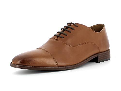 Gordon & Bros. Herren Schnürhalbschuhe Lorenzo A151641, Männer Businessschuh, Wechselfußbett, Business-Schuh Men,Cow Milled Cognac,43 EU / 9 UK