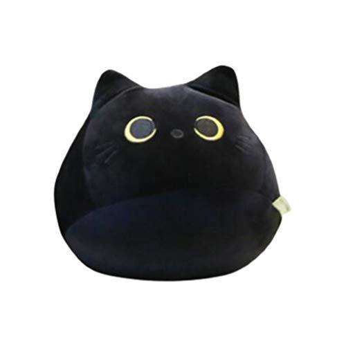 Plüschtier Wurfkissen Katzenpuppe Schwarze Katze Plüschtier Cartoon Katzenform Kissen Gefüllte