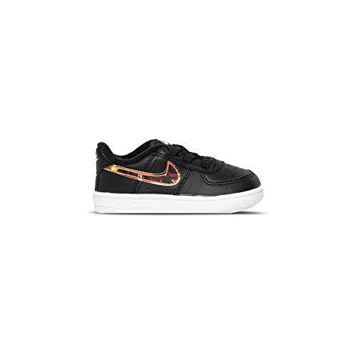 Nike Force 1 Crib (CB), Zapatillas Deportivas Unisex niños, Black Multi Color White, 17 EU