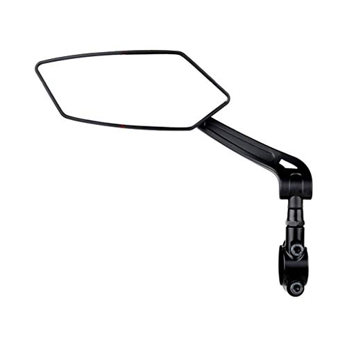 perfeclan Lente de Cristal resistente a los arañazos, espejo de manillar para bicicleta, espejo retrovisor seguro giratorio, espejos de bicicleta de alto - Lado izquierdo