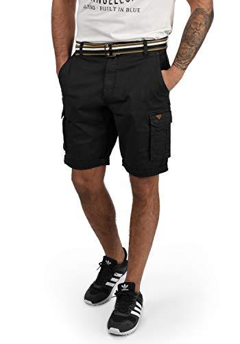 Blend Brian Herren Cargo Shorts Bermuda Kurze Hose Mit Gürtel Regular Fit, Größe:L, Farbe:Black (70155)
