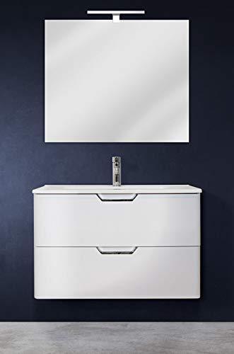 Mobiletto con 4 Cassetti e 1 Porta Contenitore Multiuso in Lengo Bianco 78 X 40 X 48 cm IKAYAA Mobiletto del Bagno