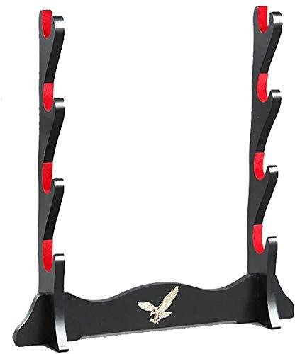 AMDHZ Katana Rack Soporte de Soporte de Espada Eagle Pantalla Pantalla Samurai Sword Katana Plus Velvet Wakizashi Soporte Soporte Soporte Titular de la Espada (Size : 4Tier)