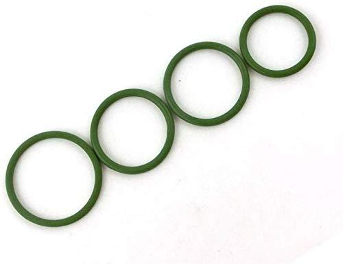 Hardware 20 unids-múltiples especificaciones- 4 mm de espesor verde FKM O anillo Sellas de anillo Lavadora de juntas 24/25/26/27/220/23/30/32/32/32 mm OD Caucho de fluorina FKM O-Rings (Tamaño