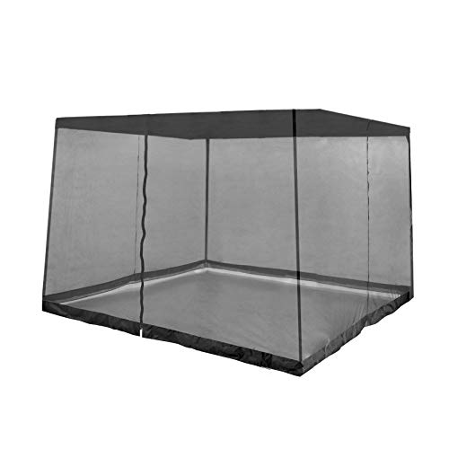 Z-Shade Gazebo Screenroom Shade Protectant Attachment to Prevent Bugs from Entering for 13 by 13 Foot Outdoor Shelter Tents, Black