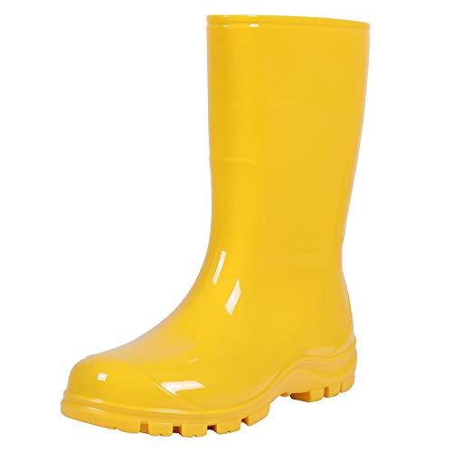 Asgard Women's Mid Calf Rain Boots Short Waterproof Garden Shoes Yellows 41