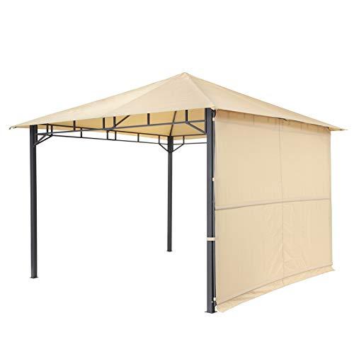 tepro Pavillon Sand LEHUA 330x330x285 cm Garten Camping Terrasse 5508