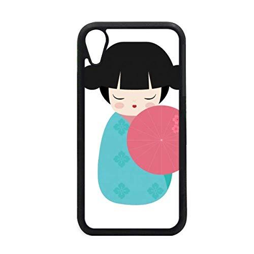 beatChong Blauw Kimono Sakura Japan Pop iPhone XR iPhonecase Hoes Apple Telefoonhoesje