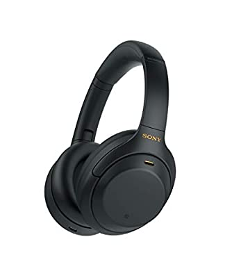 Sony WH-1000XM4 Noise Cancelling Wireless Headphones - 30 hours battery life - Over Ear style - Optimised for Alexa and the Google Assistant - with built-in mic for phone calls - Black from Sony
