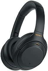 Sony WH1000XM4, Auriculares inalámbricos Noise Cancelling (Bluetooth, optimizado para Alexa y Google Assistant, 30 h de batería, óptimo para Trabajar en casa, Micro Manos Libres), Negro, Talla Única
