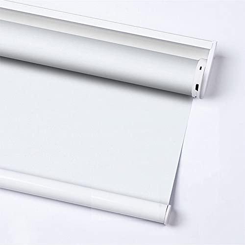 OKJK Estores Enrollable Motorizadas Personalizadas, Estores Eléctricas De para El Hogar Inteligente, Motor Tubular Recargable,taladrar, para El Hogar Oficina (White,Custom Size 1m² Daylight)